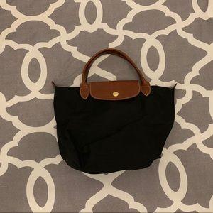 Black Small Longchamp Wrist Bag